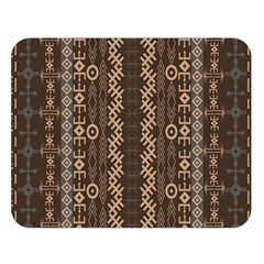 African Style Vector Pattern Double Sided Flano Blanket (large)
