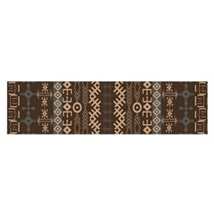 African Style Vector Pattern Satin Scarf (Oblong)