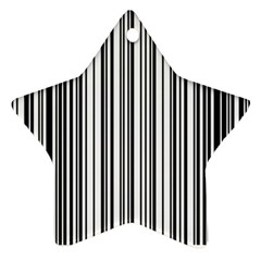 Barcode Pattern Ornament (Star)