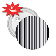 Barcode Pattern 2.25  Buttons (10 pack)