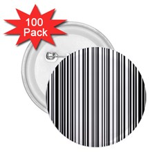 Barcode Pattern 2.25  Buttons (100 pack)