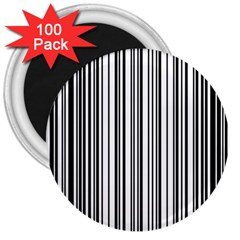 Barcode Pattern 3  Magnets (100 Pack)