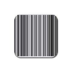 Barcode Pattern Rubber Coaster (Square)
