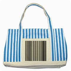 Barcode Pattern Striped Blue Tote Bag