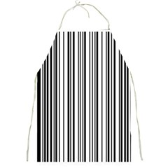 Barcode Pattern Full Print Aprons
