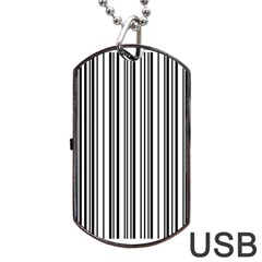 Barcode Pattern Dog Tag USB Flash (One Side)