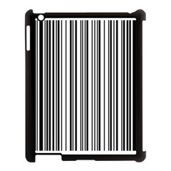 Barcode Pattern Apple Ipad 3/4 Case (black)