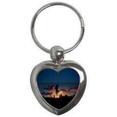 Art Sunset Anime Afternoon Key Chains (heart)