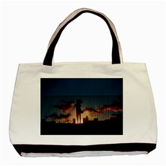 Art Sunset Anime Afternoon Basic Tote Bag