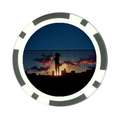 Art Sunset Anime Afternoon Poker Chip Card Guard (10 Pack)