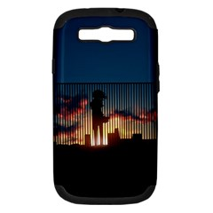Art Sunset Anime Afternoon Samsung Galaxy S Iii Hardshell Case (pc+silicone)