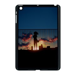 Art Sunset Anime Afternoon Apple iPad Mini Case (Black)