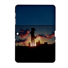 Art Sunset Anime Afternoon Samsung Galaxy Tab 2 (10.1 ) P5100 Hardshell Case