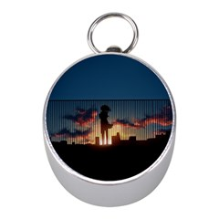 Art Sunset Anime Afternoon Mini Silver Compasses