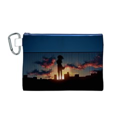 Art Sunset Anime Afternoon Canvas Cosmetic Bag (M)