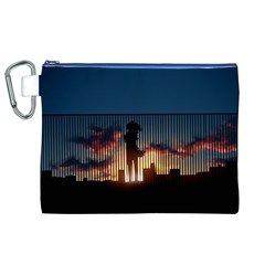 Art Sunset Anime Afternoon Canvas Cosmetic Bag (XL)