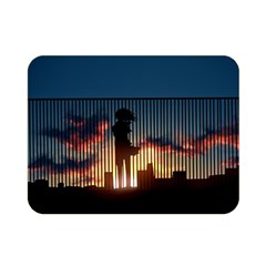 Art Sunset Anime Afternoon Double Sided Flano Blanket (mini)