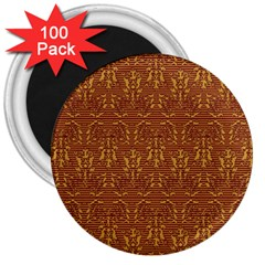 Art Abstract Pattern 3  Magnets (100 Pack)