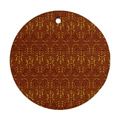Art Abstract Pattern Round Ornament (Two Sides)