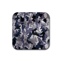 Army Camo Pattern Rubber Square Coaster (4 Pack)