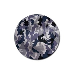 Army Camo Pattern Rubber Coaster (Round)