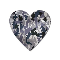 Army Camo Pattern Heart Magnet
