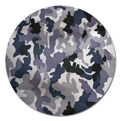 Army Camo Pattern Magnet 5  (Round)
