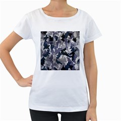 Army Camo Pattern Women s Loose-Fit T-Shirt (White)