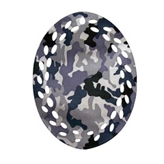 Army Camo Pattern Oval Filigree Ornament (Two Sides)