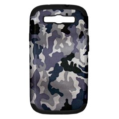 Army Camo Pattern Samsung Galaxy S III Hardshell Case (PC+Silicone)