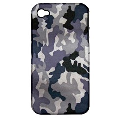 Army Camo Pattern Apple iPhone 4/4S Hardshell Case (PC+Silicone)