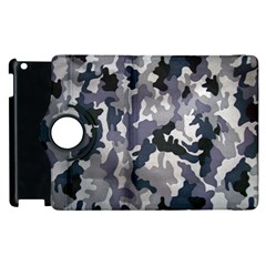 Army Camo Pattern Apple iPad 3/4 Flip 360 Case