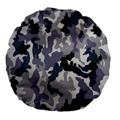 Army Camo Pattern Large 18  Premium Flano Round Cushions