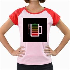 Black Energy Battery Life Women s Cap Sleeve T Shirt