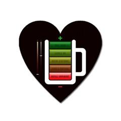 Black Energy Battery Life Heart Magnet