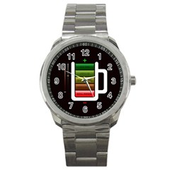 Black Energy Battery Life Sport Metal Watch