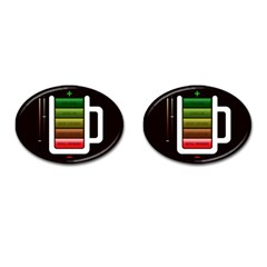 Black Energy Battery Life Cufflinks (Oval)