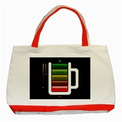 Black Energy Battery Life Classic Tote Bag (Red)