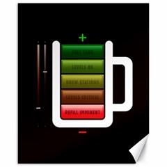 Black Energy Battery Life Canvas 16  x 20