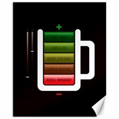 Black Energy Battery Life Canvas 11  x 14