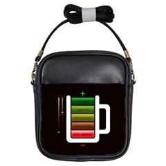 Black Energy Battery Life Girls Sling Bags