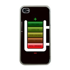 Black Energy Battery Life Apple iPhone 4 Case (Clear)