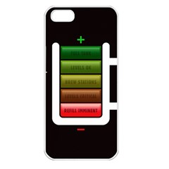 Black Energy Battery Life Apple iPhone 5 Seamless Case (White)