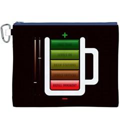 Black Energy Battery Life Canvas Cosmetic Bag (XXXL)