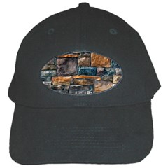 Brick Wall Pattern Black Cap