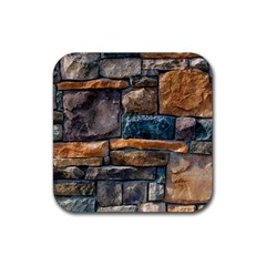 Brick Wall Pattern Rubber Square Coaster (4 Pack)