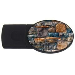 Brick Wall Pattern USB Flash Drive Oval (1 GB)