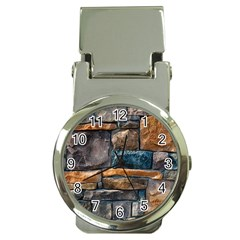 Brick Wall Pattern Money Clip Watches