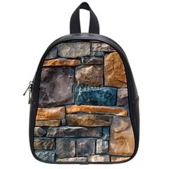 Brick Wall Pattern School Bags (small)