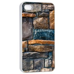 Brick Wall Pattern Apple iPhone 4/4s Seamless Case (White)